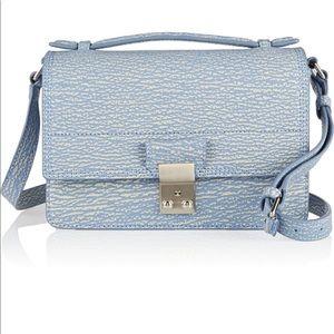 The Pashli Mini Messenger textured leather bag